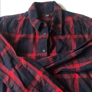 Uniqlo Red Navy Flannel Shirt L